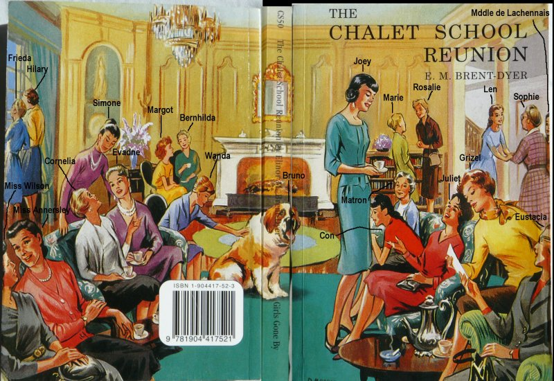 The Chalet School Reunion, annotated to show who is who