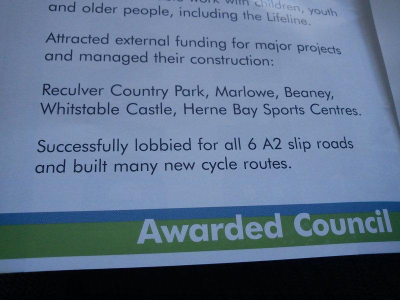 Brennan Dwyer Canterbury Conservative leaflet